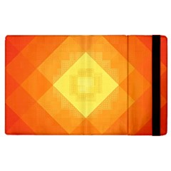 Pattern Retired Background Orange Apple Ipad 2 Flip Case