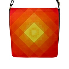 Pattern Retired Background Orange Flap Messenger Bag (l)  by Nexatart