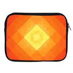 Pattern Retired Background Orange Apple Ipad 2/3/4 Zipper Cases by Nexatart