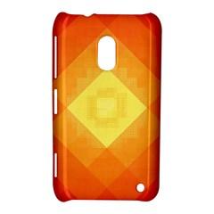 Pattern Retired Background Orange Nokia Lumia 620 by Nexatart