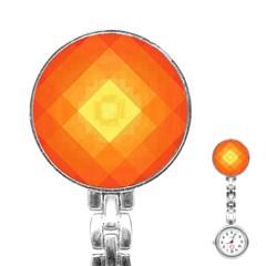 Pattern Retired Background Orange Stainless Steel Nurses Watch