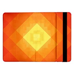 Pattern Retired Background Orange Samsung Galaxy Tab Pro 12 2  Flip Case