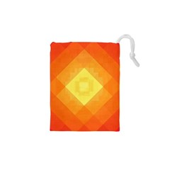 Pattern Retired Background Orange Drawstring Pouches (xs)  by Nexatart