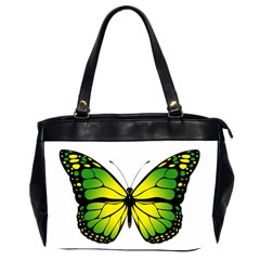 Green Butterfly Office Handbags (2 Sides)  by linceazul