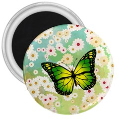 Green Butterfly 3  Magnets by linceazul