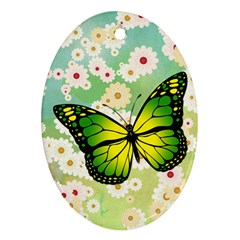 Green Butterfly Ornament (oval) by linceazul