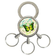 Green Butterfly 3 Ring Key Chains by linceazul