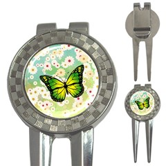 Green Butterfly 3 In 1 Golf Divots by linceazul