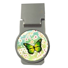 Green Butterfly Money Clips (round)  by linceazul