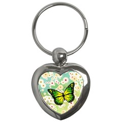 Green Butterfly Key Chains (heart)  by linceazul