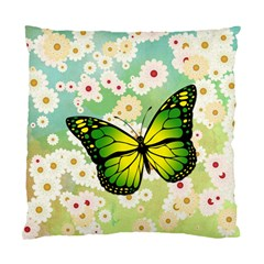 Green Butterfly Standard Cushion Case (two Sides) by linceazul