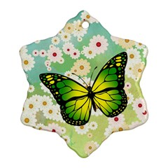Green Butterfly Ornament (snowflake) by linceazul