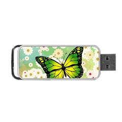 Green Butterfly Portable Usb Flash (one Side) by linceazul