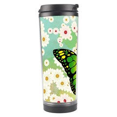 Green Butterfly Travel Tumbler by linceazul