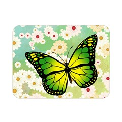 Green Butterfly Double Sided Flano Blanket (mini)  by linceazul