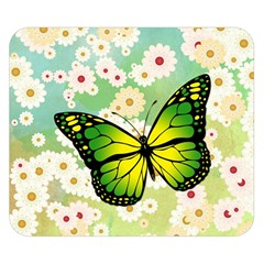 Green Butterfly Double Sided Flano Blanket (small)  by linceazul