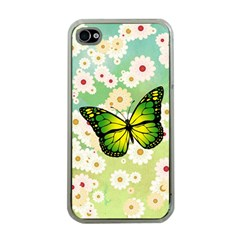 Green Butterfly Apple Iphone 4 Case (clear) by linceazul