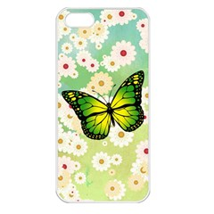 Green Butterfly Apple Iphone 5 Seamless Case (white) by linceazul
