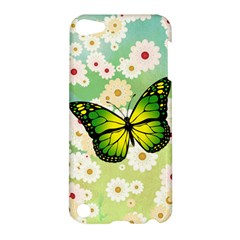 Green Butterfly Apple Ipod Touch 5 Hardshell Case by linceazul