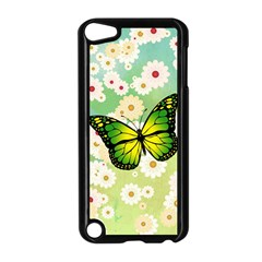 Green Butterfly Apple Ipod Touch 5 Case (black) by linceazul