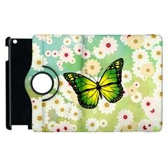 Green Butterfly Apple Ipad 3/4 Flip 360 Case by linceazul