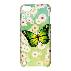 Green Butterfly Apple Ipod Touch 5 Hardshell Case With Stand by linceazul