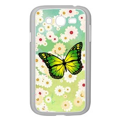 Green Butterfly Samsung Galaxy Grand Duos I9082 Case (white) by linceazul