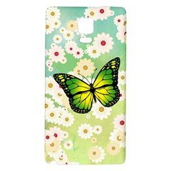 Green Butterfly Galaxy Note 4 Back Case by linceazul