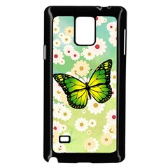 Green Butterfly Samsung Galaxy Note 4 Case (black) by linceazul