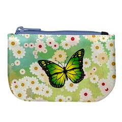 Green Butterfly Large Coin Purse