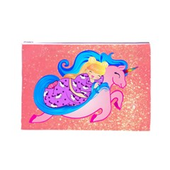 Unicorn Dreams Cosmetic Bag (large)  by tonitails