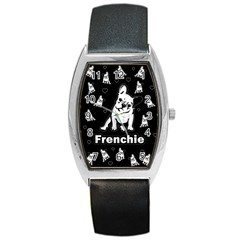 Frenchie Barrel Style Metal Watch by Valentinaart