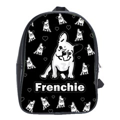 Frenchie School Bags(large)  by Valentinaart