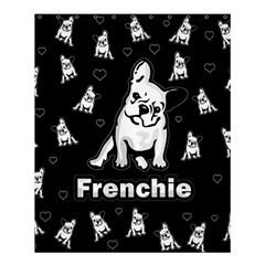 Frenchie Shower Curtain 60  X 72  (medium)  by Valentinaart