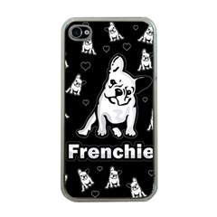 Frenchie Apple Iphone 4 Case (clear) by Valentinaart