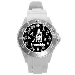 Frenchie Round Plastic Sport Watch (l)