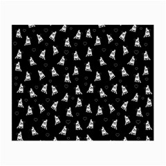French Bulldog Small Glasses Cloth by Valentinaart