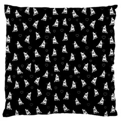 French Bulldog Standard Flano Cushion Case (one Side) by Valentinaart