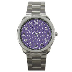 French Bulldog Sport Metal Watch by Valentinaart