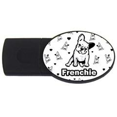 French Bulldog Usb Flash Drive Oval (4 Gb) by Valentinaart