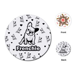 French Bulldog Playing Cards (round)  by Valentinaart