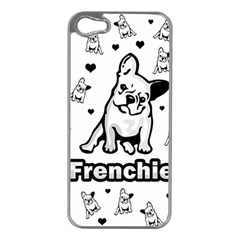 French Bulldog Apple Iphone 5 Case (silver) by Valentinaart