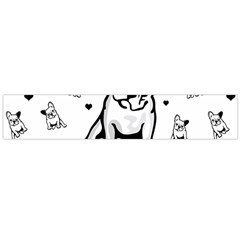 French Bulldog Flano Scarf (large) by Valentinaart