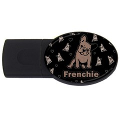 French Bulldog Usb Flash Drive Oval (4 Gb) by Valentinaart
