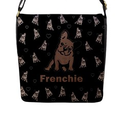 French Bulldog Flap Messenger Bag (l)  by Valentinaart