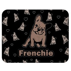 French Bulldog Double Sided Flano Blanket (medium)  by Valentinaart