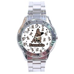 French Bulldog Stainless Steel Analogue Watch by Valentinaart