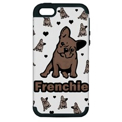 French Bulldog Apple Iphone 5 Hardshell Case (pc+silicone) by Valentinaart