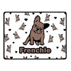 French Bulldog Double Sided Fleece Blanket (small)  by Valentinaart