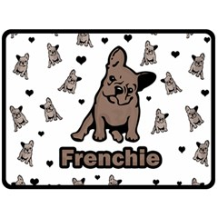 French Bulldog Double Sided Fleece Blanket (large)  by Valentinaart